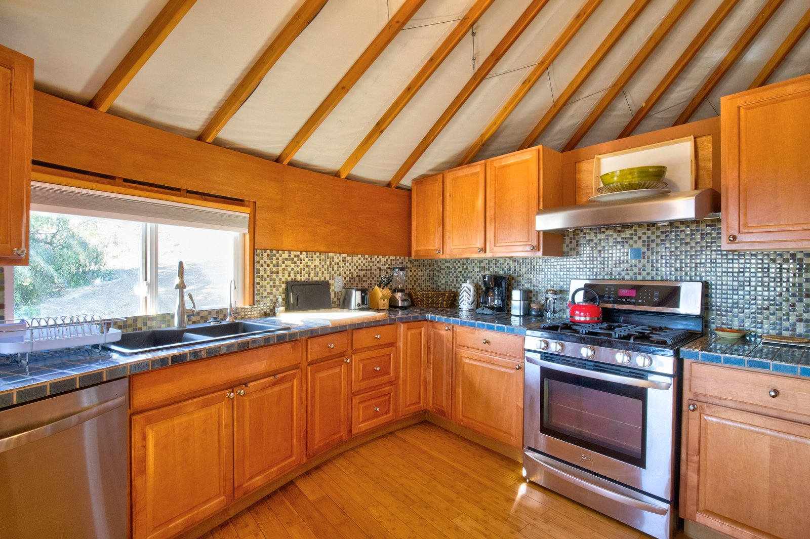 The roomy kitchen offers all the comforts of home.