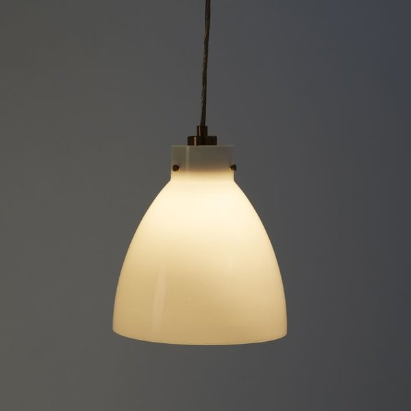 Industrial Glass Pendant Lamp from West Elm