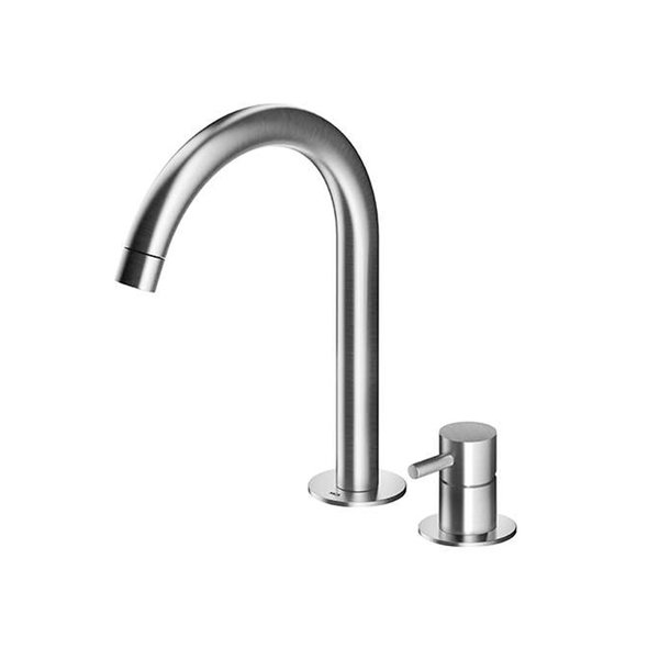 MGS Faucets Two Hole Single Lever Sink Faucet With Pop-Up Drain