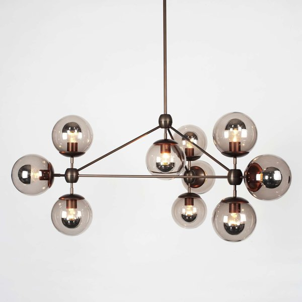 Roll & Hill Modo 3 Sided Chandelier – 10 Globes