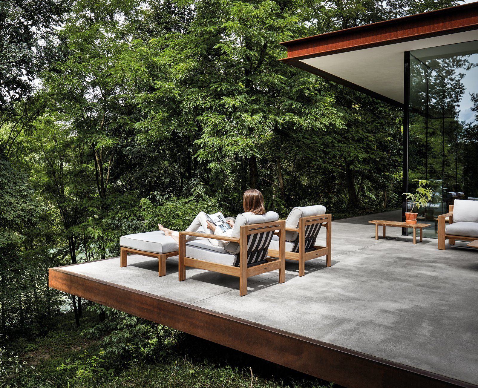 Tranquil Outdoor Sanctuary by Gloster