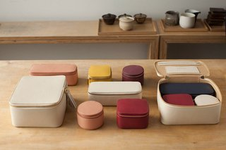 Watch: A Conversation With Decluttering Guru Marie Kondo - Photo 1 of 9 - Inspired by Japanese bento boxes, the Cuyana x Marie Kondo capsule collection is intuitively designed for travel. The three leather boxes fit neatly into the Cuyana jewelry case, and come in a variety of subdued colors.