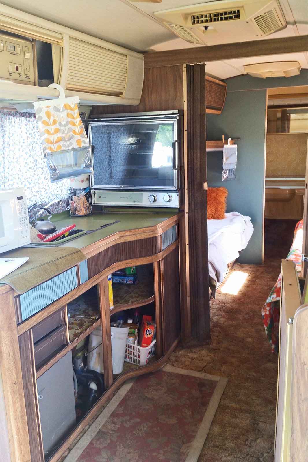 A peek inside the 40-year-old trailer before the 10-month renovation.