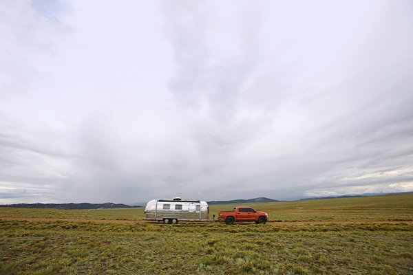 The couple are currently transitioning to living and working in the Airstream full time.