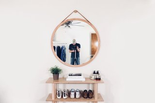 Dwell Made Presents: DIY Round Wall Mirror With Leather Strap