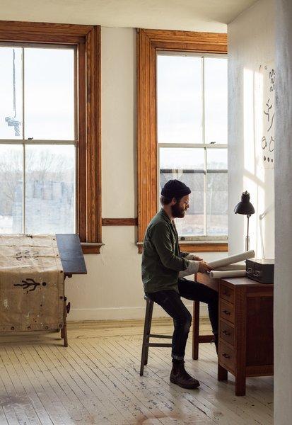A peek into Spellman's historic studio space in Westerly, Rhode Island.