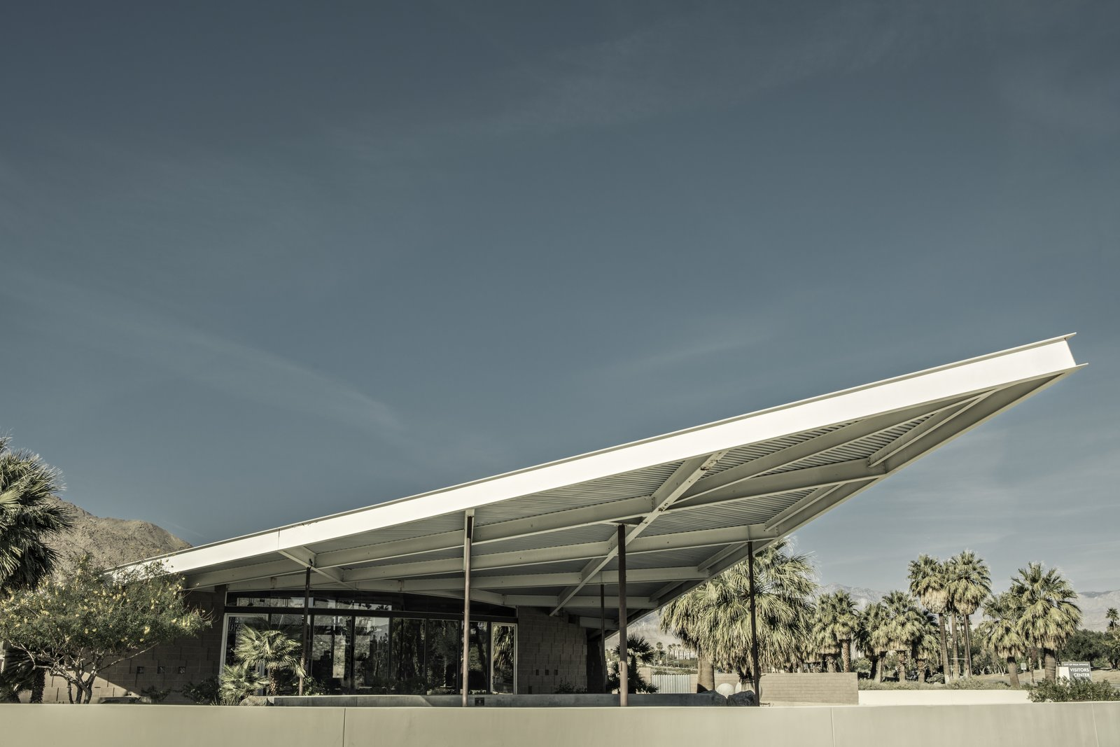 The desert transformed Albert Frey—providing an endlessly intriguing counterpoint to his International Style designs—and he, in turn, transformed Palm Springs. The Tramway Gas Station was created with Robson Chambers.