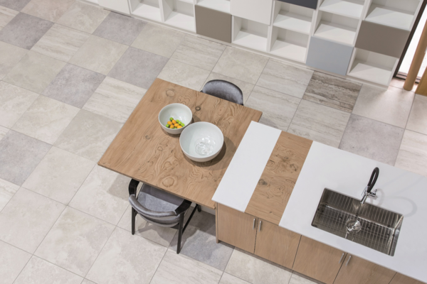 How to Choose the Right Material For Every Surface of Your Home - Photo 11 of 13 - Timber La Boheme and Colorfeel Arctic White table