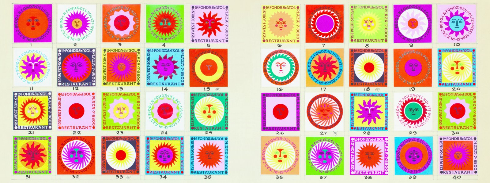 Oldham's tome on Alexander Girard drew extensively from the modernist icon's archives, including designs he did for the restaurant La Fonda del Sol in the 1960s.