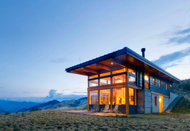 Cabins from around the world Tagged: Exterior, Glass Siding Material, Cabin Building Type, and Concrete Siding Material.  Photo 58 of 101 in 101 Best Modern Cabins from cabins