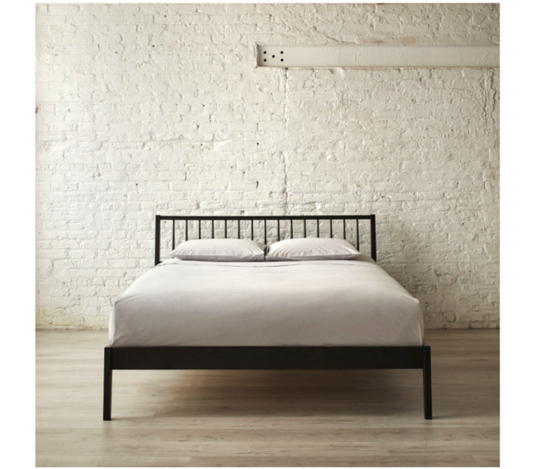 Windsor Oak Black Bed by Unison