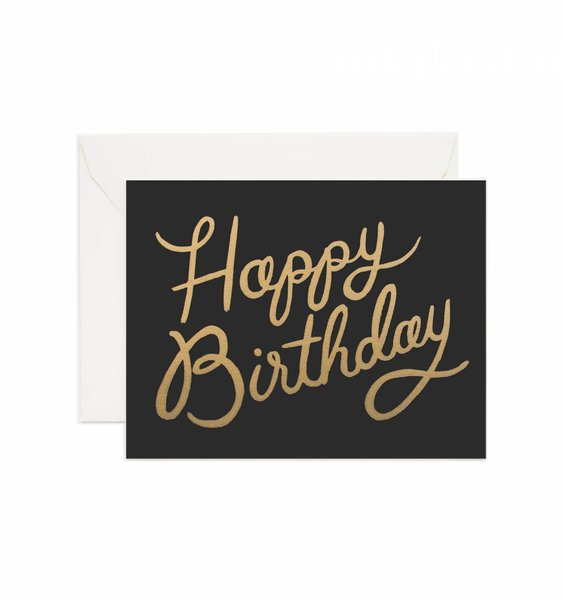 Shimmering Birthday Greeting Card