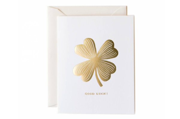 Good Luck Clover Greeting Card by Rifle Paper Co.