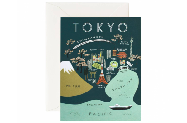 Tokyo Map Greeting Card by Rifle Paper Co.