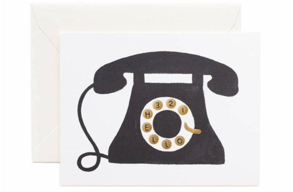 Hello! Telephone Greeting Card by Rifle Paper Co.