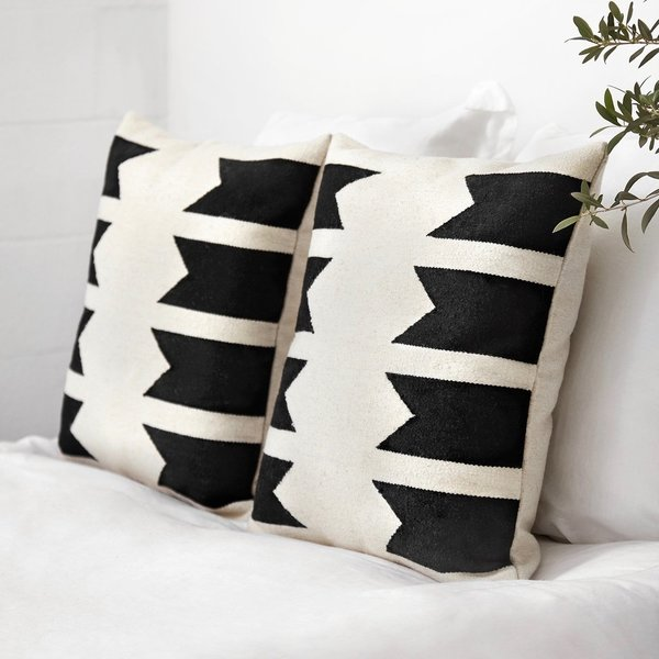 Urbano Pillows - Black by The Citizenry