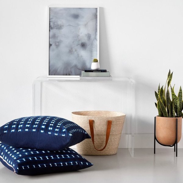 Dara Indigo Floor Pillow