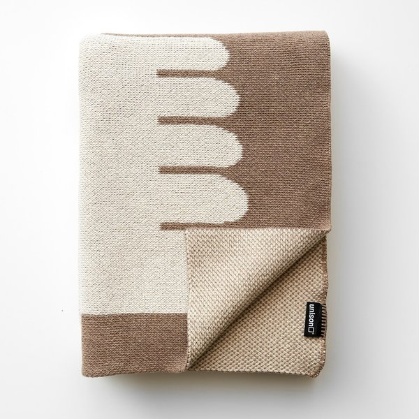 Dove Natural Knit Throw Blanket by Unison