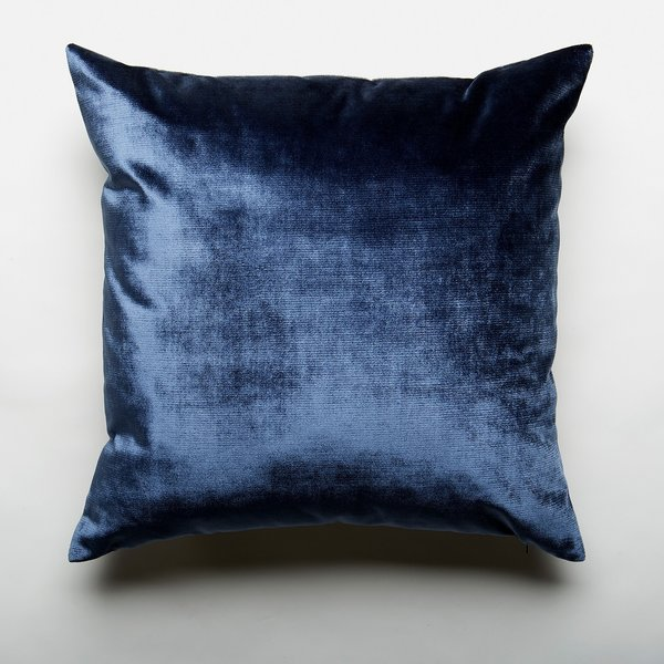 Two Tone Midnight Velvet Throw Pillow Cover by Unison