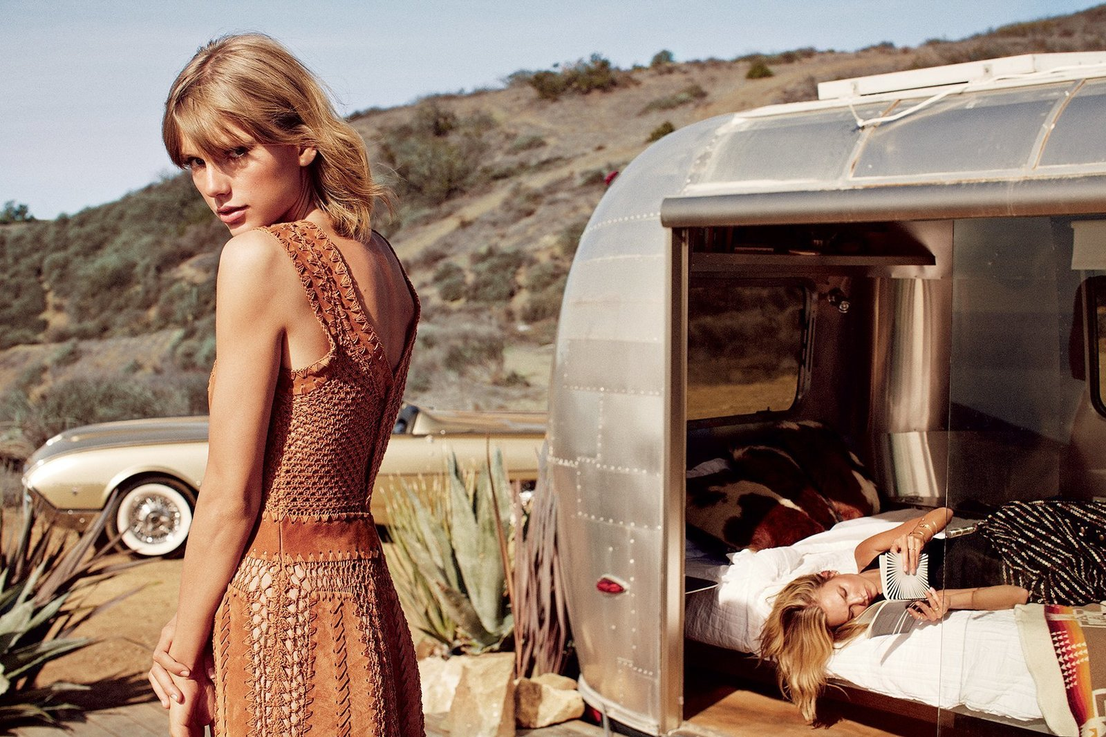 Big Sur With Taylor Swift and Karlie Kloss.  Photographed by Mikael Jansson, Vogue, March 2015   Best Photos