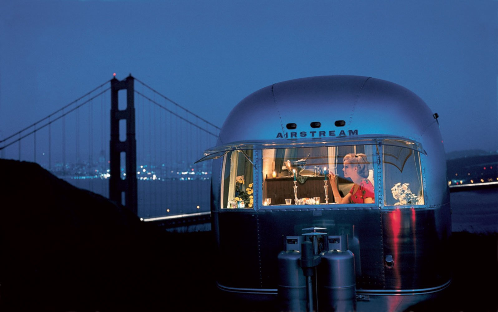 The Silver RV, Photo credit: Airstream, Inc. #airstream #sanfrancsico #goldengate #sf   Off the grid by Michela O'Connor Abrams from Airstream Lifestyle