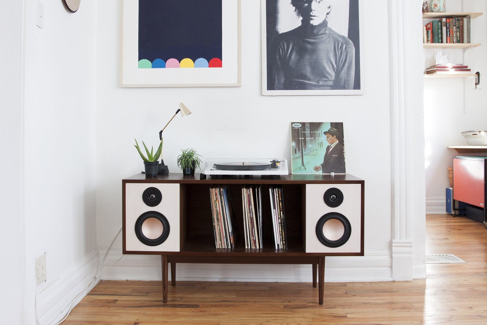 The HiFi Console is a Bluetooth enabled mid-century inspired stereo console. Created by Department Chicago https://www.kickstarter.com/projects/1240320326/the-modern-hifi-stereo-console/description  Sound Style by Stephen Blake