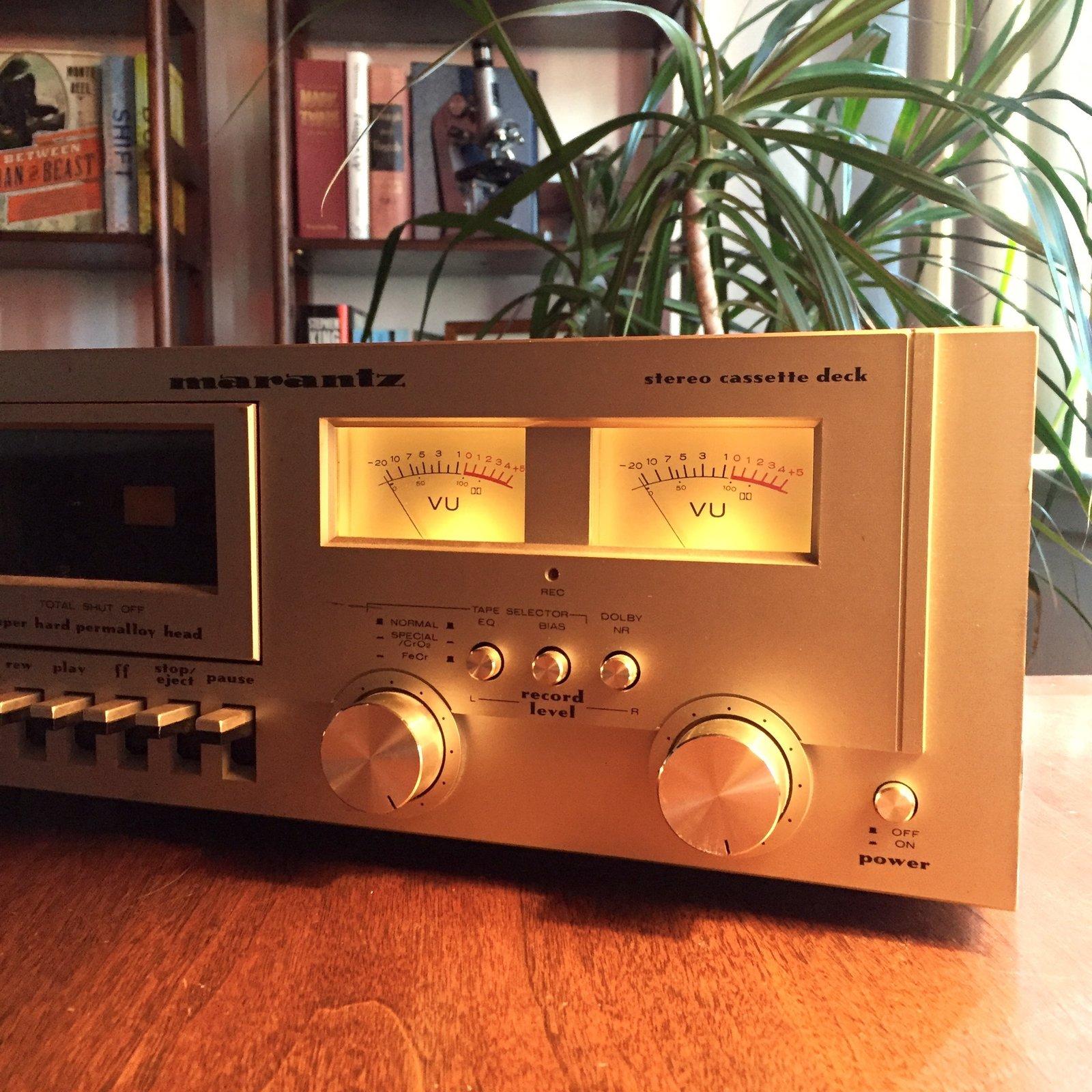My Marantz SD 800 tape deck. Still beautiful, still cooking.  Sound Style by Stephen Blake