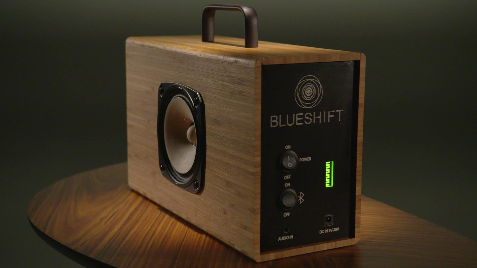 "Blueshift portable speaker. ""Blueshift speakers charge in five minutes. Simple, beautiful devices - built to last in Portland, Oregon."" https://www.crowdsupply.com/blueshift/hydrogen-next-generation-supercapacitor-powered-portable-speaker  https://www.facebook.com/BlueshiftPDX"
