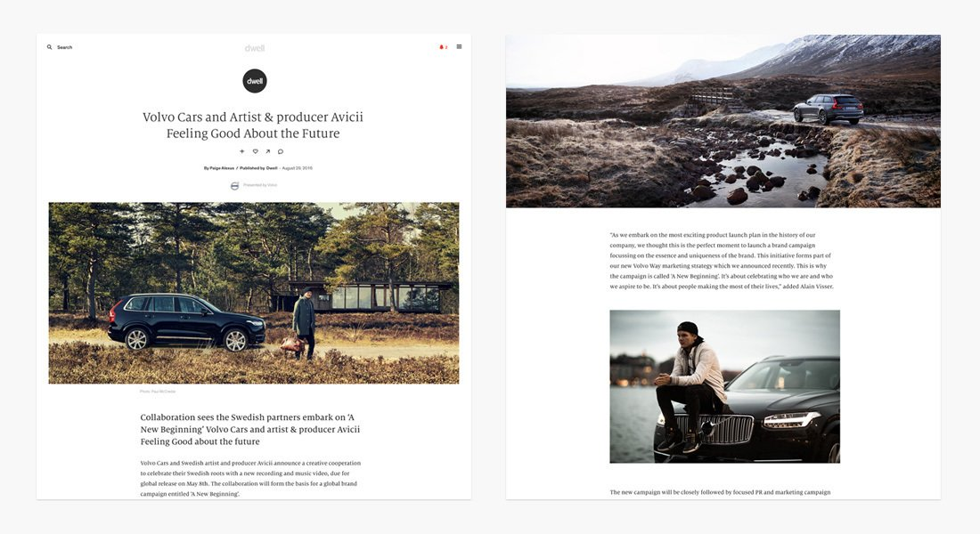 Native Stories, written by Dwell in collaboration with your brand, are a content rich authentic opportunity to tell your story with great writing, beautiful photography and engaging videos.
