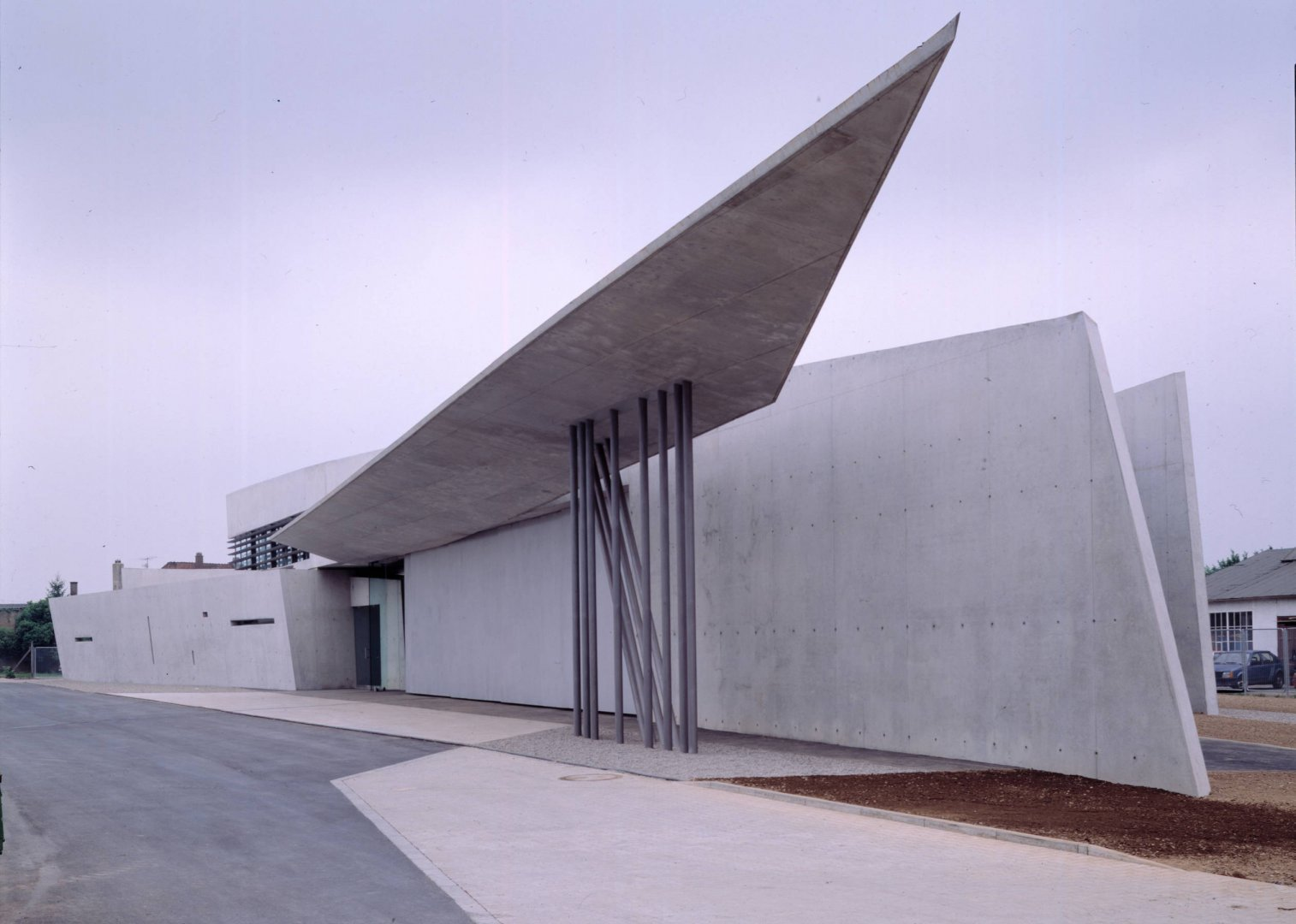 Zaha Hadid's first piece of architecture was a fire house for the Vitra campus.  Firehouses by Lara Deam