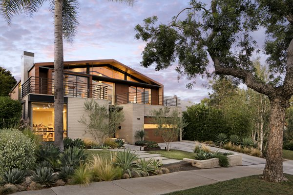 The home is motivated by Mid-Century style, but also expresses a sense of California-cool. Photo  of Cohen Residence modern home
