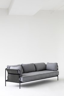 Ronan and Erwan Bouroullec released the Can sofa, a flat-pack design with a canvas and steel tube frame.