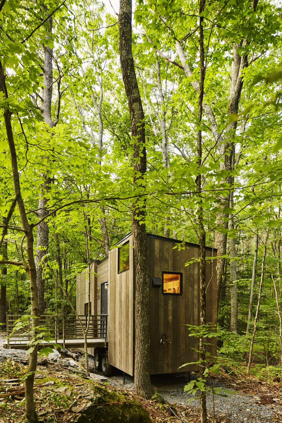 The Isidore cabin sleeps four. Cabin by DAVE MORIN