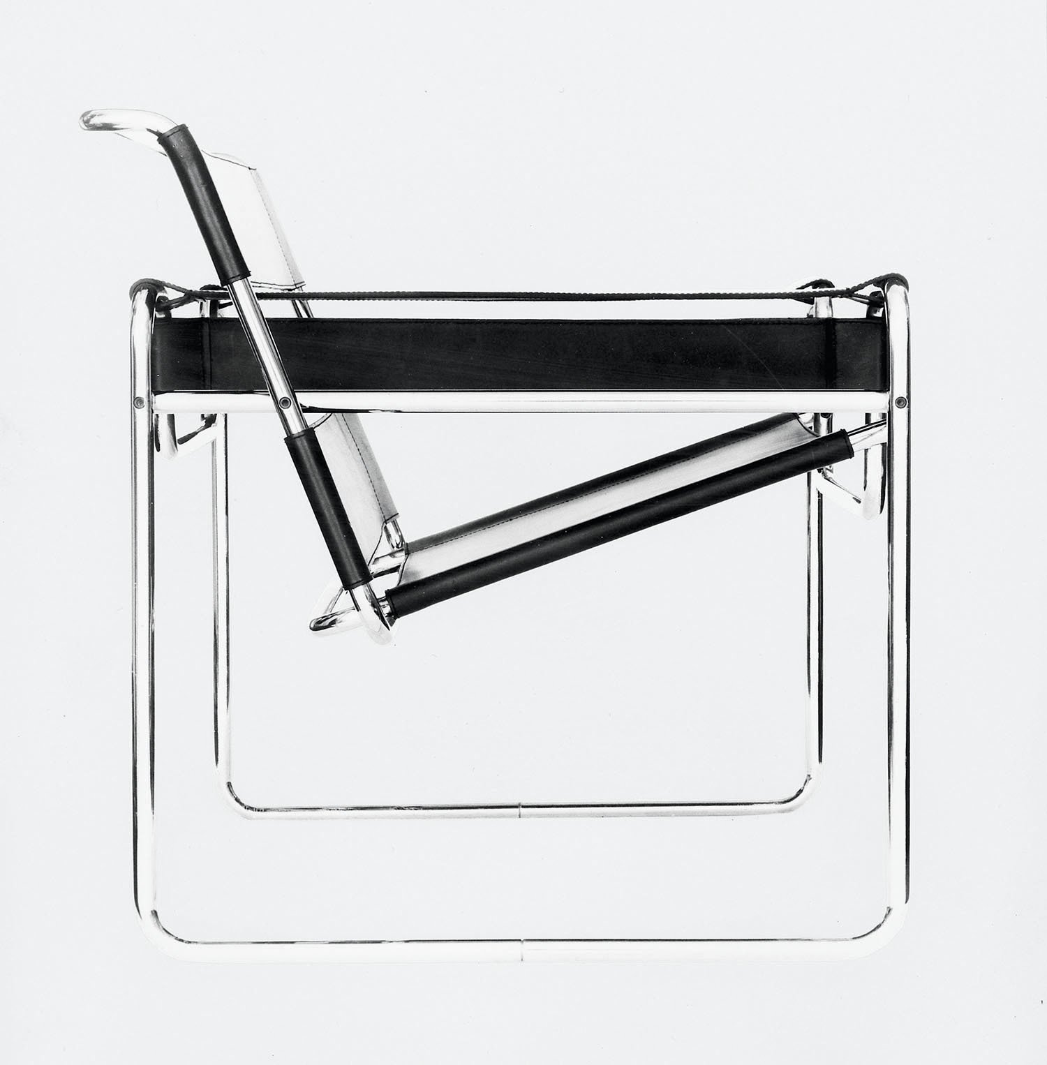 Fascinated by his bicycle, Breuer conducted early experimentations with tubular steel that resulted in the iconic Wassily chair, the first of many furnishings that he made with the material. (1925)  Bicycle, Bicycle by Aileen Kwun from From Bauhaus Student to Brutalist Supreme: Highlights by Marcel Breuer