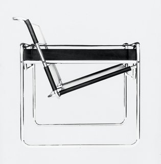 From Bauhaus Student to Brutalist Supreme: Highlights by Marcel Breuer - Photo 4 of 9 - Fascinated by his bicycle, Breuer conducted early experimentations with tubular steel that resulted in the iconic Wassily chair, the first of many furnishings that he made with the material. (1925)