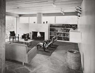 From Bauhaus Student to Brutalist Supreme: Highlights by Marcel Breuer - Photo 8 of 9 - The third house that Breuer built for his family is located in New Canaan, Connecticut, and showcases many of the designers' furnishings, including his Isokon armchairs from 1935. (1951)