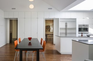 Rebooting One Kansas House at a Time - Photo 3 of 10 - In Leawood, Kansas, Forward Design | Architecture redesigned a kitchen and family room in a traditional home, creating a bright and minimalist space that takes cues from the residents' contemporary furnishings.