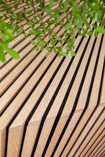 A Tree Grows in Amsterdam - Photo 5 of 7 - A close-up of the wood detailing. Photo by Wouter van der Sar.