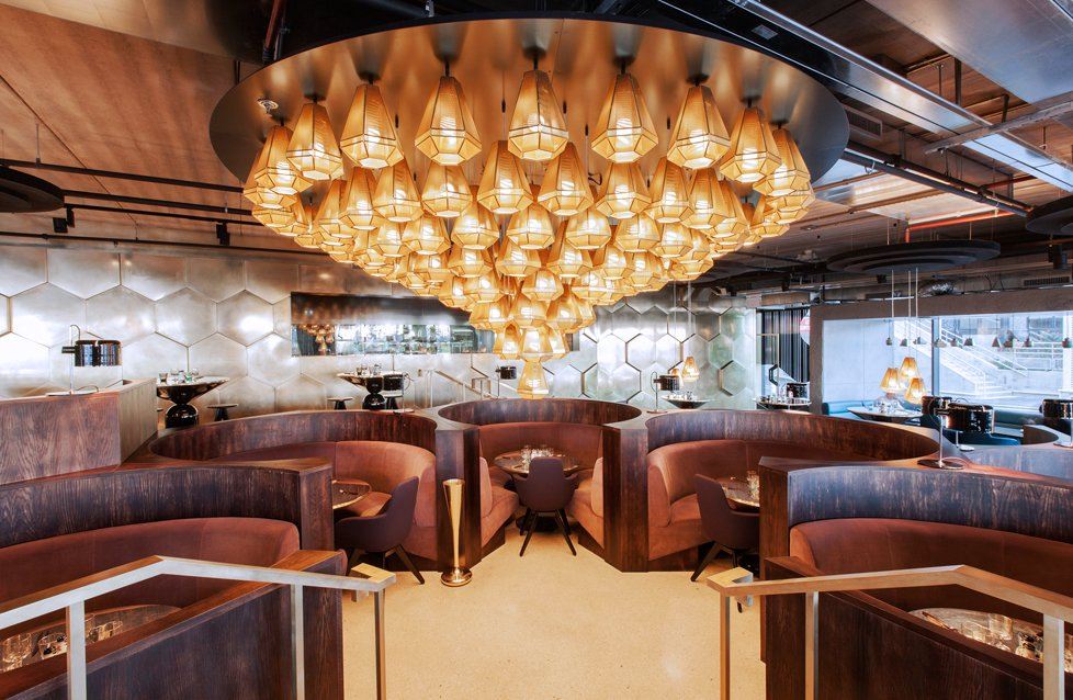 Eclectic restaurant in Paris. Courtesy of Tom Dixon.  Hospitality Favorites by Allie Weiss