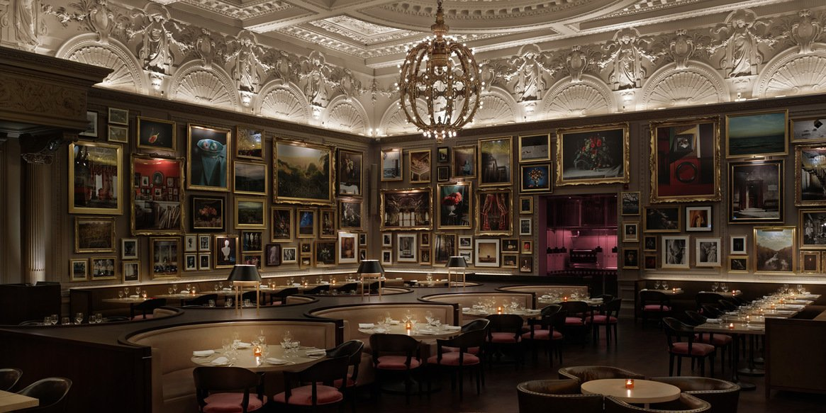 Berners Tavern at the London Edition Hotel by Yabu Pushelberg. Courtesy of the London Edition.  Hospitality Favorites by Allie Weiss