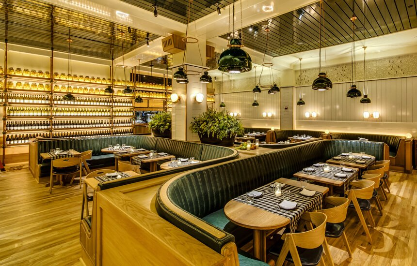 Upland restaurant by Roman & Williams. Courtesy of Upland.  Hospitality Favorites by Allie Weiss