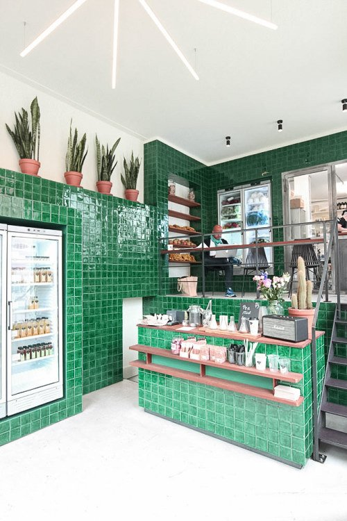 The Cold Pressed Juicery by Standard Studio in Amsterdam, the Netherlands. Courtesy of Standard Studio.  Hospitality Favorites by Allie Weiss