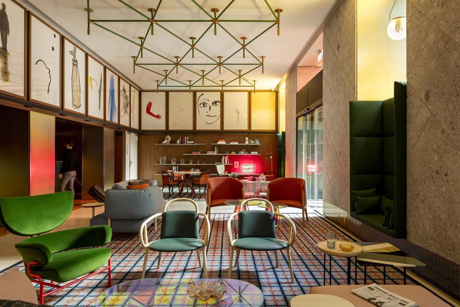 Room Mate Giulia Hotel by Patricia Urquiola in Milan. Courtesy of Room Mate Giulia Hotel.
