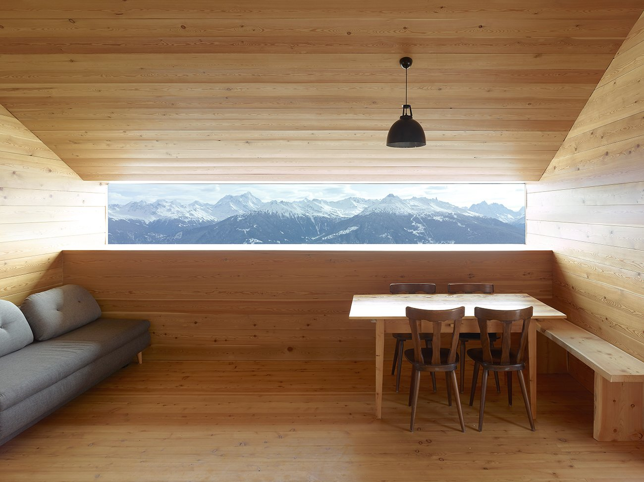 Boisset Home in the Alps of Le Biolley, Switzerland; Architects: Savioz Fabrizzi Architects; Photo by Thomas Jantscher  Woodgrain by Jenny Xie from Cabin Fever
