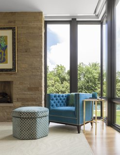Floor-to-ceiling windows from Marvin fill most of the ground level, including a number of 90 degree corner windows that maximize views and help capture light from multiple angles. Courtesy of Marvin Windows and Doors.