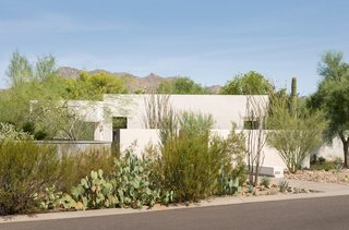Taking it to the Desert With Dwell Home Tours - Photo 3 of 12 - Another stop will be the House on Marion, which was constructed with simple production techniques in the form of a rectangular mass. As a project led by Karin Santiago of Lightvox Studio, the house was built to replace a deteriorating structure. The final result celebrates the values of sustainable and affordable living.