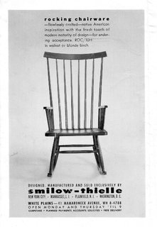 An Icon's Legacy is Revived by a Father-Daughter Bond - Photo 4 of 11 - Starting in the early '60s and lasting through the '70s, Smilow-Thielle ran this surprisingly modern and graphic ad in multiple publications. This is the same rocking chair that is once again being brought to market.