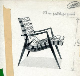 An Icon's Legacy is Revived by a Father-Daughter Bond - Photo 7 of 11 - Mel's design process always started with rough sketches, where he was able to get a better feel for the proportions. He would then translate them into more detailed drawings with precise dimensions and notes. Here is an exquisite example of his process from when he was developing the Woven Leather Armchair.