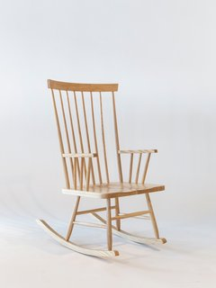 An Icon's Legacy is Revived by a Father-Daughter Bond - Photo 11 of 11 - Today's rendition of the Rocking Chair, shown here in the natural ash finish, relies on its clean lines and meticulous craftsmanship.
