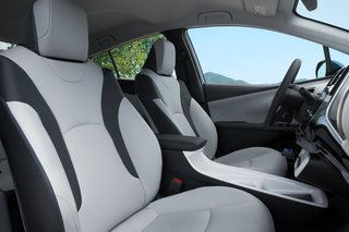 Hitting the Road With the Newest Hybrid Technologies - Photo 7 of 8 - A redesigned interior has created more spacious seating, while a reshaped center console adds even more open space. Deep side bolsters and an available eight-way power-adjustable driver's seat with power lumbar support allows you to get comfortable, no matter how long the road trip may be.